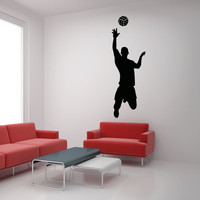 Vinyl Wall Decal Sticker Male Volleyball Player #OS_AA788