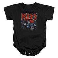 KISS Boys' Kings Bodysuit Black Rockabilia