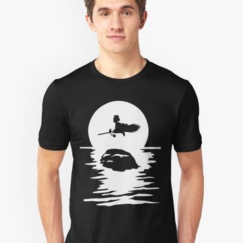 'Kiki's Delivery Service T-Shirt Cowboy Bebop No Face Calcifer Kuroko Anime Totoro Dragon Ball Spirited Away' T-Shirt by zellow