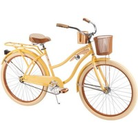 "Huffy® 26"" Nel Lusso™ Women's Cruiser Bike, Yellow - Walmart.com"