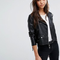 Vero Moda Leather Look Biker Jacket