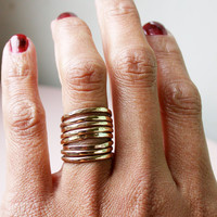 8 brass stacking rings