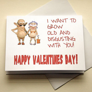 Adult humor valentine card