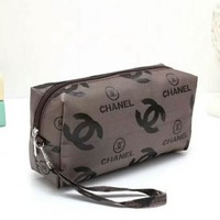 Chanel Fashion letter Cosmetic Bag Coffee I-LLBPFSH