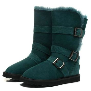 UGG Women Fur Leather Boots In Tube Boots Shoes I