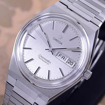 VINTAGE OMEGA SEAMASTER AUTOMATIC CAL 1020 DAT&DATE SILVER DIAL MEN'S WATCH