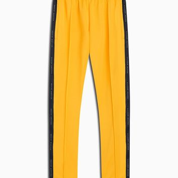 heroine track pant / yellow + black