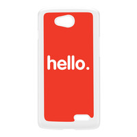 Hello White Hard Plastic Case for LG L70 by textGuy