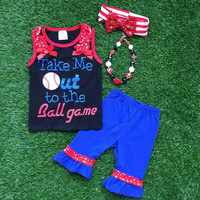 Take Me Out to the Ballgame Outfit, Girls Baseball Outfit, Girls Baseball Shirt, Toddler Baseball Outfit, Ballgame Outfit, Personalized