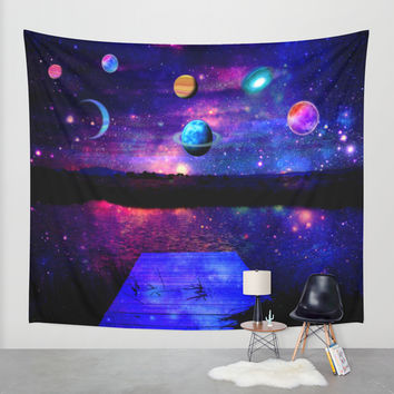 Universe Wall Tapestry by Haroulita