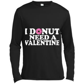 Funny Valentine's Day Cute Donut Lovers  Long Sleeve Moisture Absorbing Shirt
