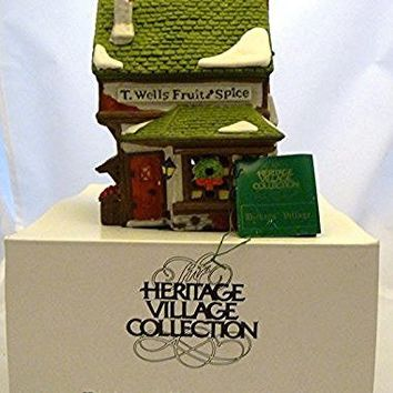 "Department 56 ""T.Wells Fruit and Spice Shop Retired"