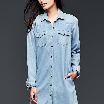 Gap Women 1969 Denim Western Shirtdress