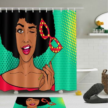 Afrocentric Shower Curtain - Home Decorations