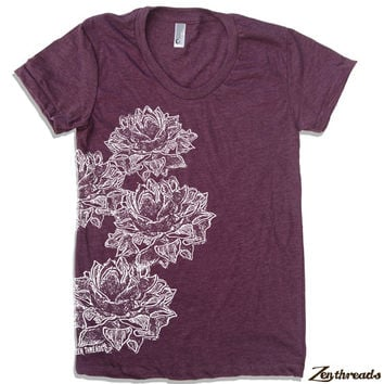 Womens LOTUS Blossoms american apparel S M L XL (17 Colors Available)