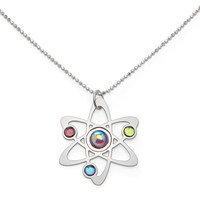 Rutherford-Bohr Model Atom Necklace