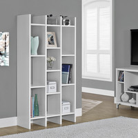"White Hollow-Core 60"" Horizontal/Vertical Etagere"