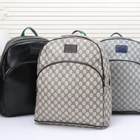 """Gucci"" Men Fashion Casual Simple Classic Print Backpack Large Capacity Travel Double Shoulder Bag"