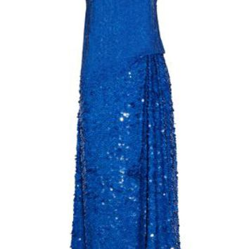 Sequined gathered silk-gauze maxi dress | EMILIO PUCCI | Sale up to 70% off | THE OUTNET