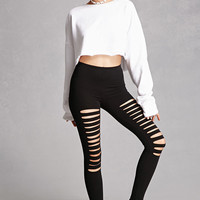 Ladder-Cutout Leggings