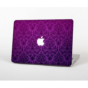 The Purple Delicate Foliage Pattern Skin Set for the Apple MacBook Air 13""