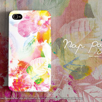 Apple iphone case for iphone 5 iphone 5s iphone 5c iphone 4 iphone 4s iPhone 6 iphone 6 plus : abstract violet flowers colorful