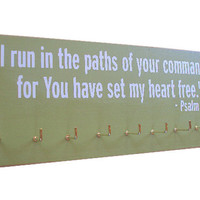 Running Medals display Rack / inspirational bible verse