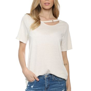 Jac Parker Cutout Ring S/S Tee