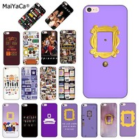MaiYaCa friends tv silicone soft Phone case for Apple iPhone 8 7 6S Plus X XS MAX XR 5S SE case Cover friends series Purple door