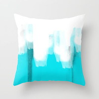 Brushed Light Blue Throw Pillow by Jcks