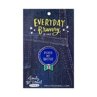 Picked My Battles Everyday Bravery Pins | Emily McDowell Studio
