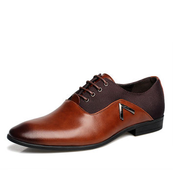 Soft Leather Gentle Wedding Dress Shoes Business Men'S Basic Flat Shoes Luxury Brand Formal Wearing Casual Shoes British Men
