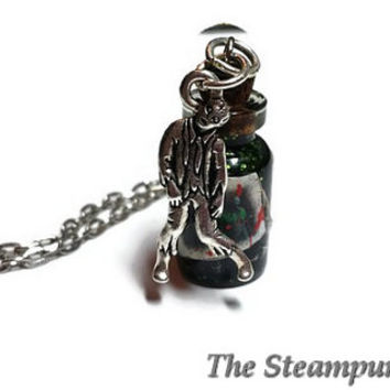 Zombie Blood Bottle Necklace