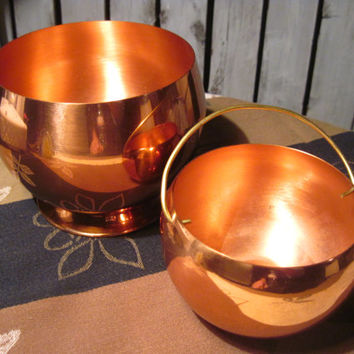 Set of 2 Coppercraft Guild Roly Poly Bowls, Beautiful!