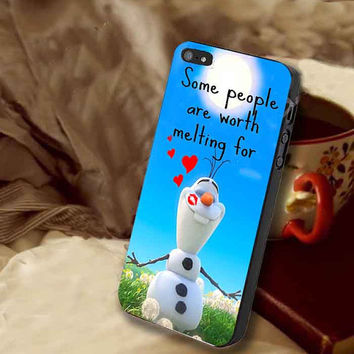 olaf in summer customized for iphone 4/4s/5/5s/5c, samsung galaxy s3/s4/s5 and ipod 4/5 case