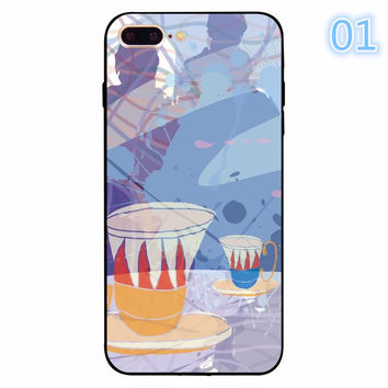 2017 New Funny Luxury Colorful Retro Floral Red Rose Flower Abstract Print For iphone 5 5s se 6 6s 7 Plus Clear Back Cover Coque Funda -0405