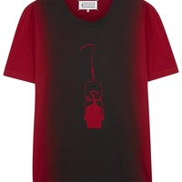 Maison Martin Margiela Red degrad� cotton T-shirt