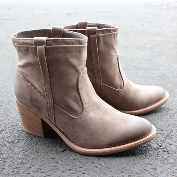suede taupe ankle boots
