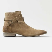 Tan Leather Buckle Boots - Men's Shoes - Shoes and Accessories