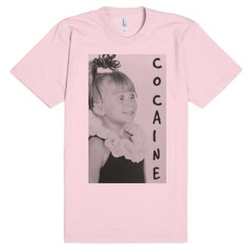 Michelle Cocaine-Unisex Light Pink T-Shirt
