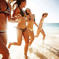 art, bathing suits, beach, beautiful, best friends - inspiring picture on Favim.com
