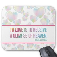 Floating Bubble Hearts Mouse Pad