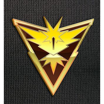 Team Instinct Pin for Backpacks Pokemon Go Leadership Lapel Clothes Pins