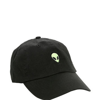 Black Alien Embroidered Dad Cap