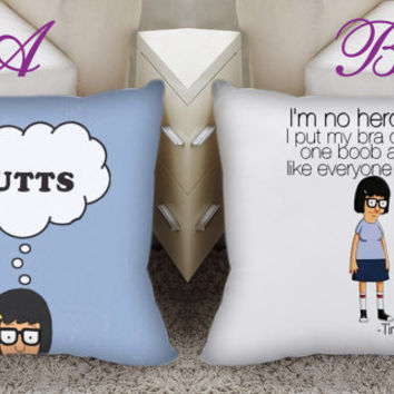 tina belcher, bobs burgers , tina belcher quote, made in america Square Pillow Case Custom Zippered Pillow Case one side and two side