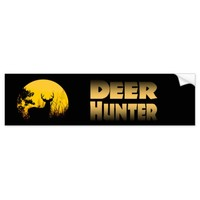 Deer Hunter Bumper Sticker