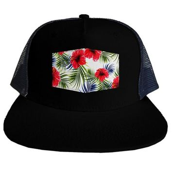 Hawaiian trucker hat