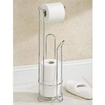 European Style Roll Stand Popular Modern Minimalist Stainless Steel Floor Type Toilet Paper Holder