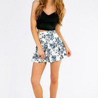 Floral It's Worth Skater Skirt $48