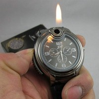 Military Lighter Watch Quartz Sports Refillable Gas ligther
